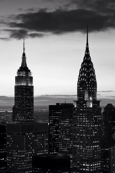 classy-blog:  Black and white picture of New York city