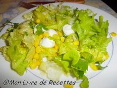Mon livre de recettes: Salade aux oeufs de cailles