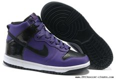 Save Up To Womens Nike Dunk High Purple Black White Casual Shoes Nike Soccer Shoes, Nike Shoes Cheap, Running Shoes Nike, Cheap Nike, Purple Sneakers, Purple Shoes, Sneakers Nike, White Casual Shoes, Nike Dunks