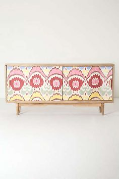 Anthropologie - Handpainted Ikat Console