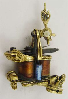 Copper Handmade Tattoo Machine-Copper Handmade Tattoo Machine-Tattoo…