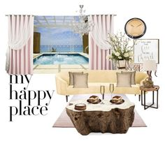 """My happy place: candles, champagne, tiramisu and jacuzzi"" by kaytlewes ❤ liked on Polyvore featuring interior, interiors, interior design, home, home decor, interior decorating, Artistica, Oliver Gal Artist Co., Cartier and Best Home Fashion"