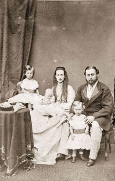 The then-Prince and Princess of Wales pose with their children in this remarkable photo from 1867. King Edward VII was the son of Queen Victoria.
