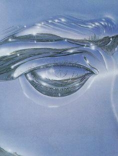 Gregory Bridges, 1986 The Eye of the Future 760 x 510 Gouache and Airbrush on Board Abstract Illustration, Arte Cyberpunk, Futuristic Art, Arte Horror, Airbrush Art, Blue Aesthetic, Vaporwave, Art Direction, Art Inspo