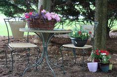 A garden sitting space.