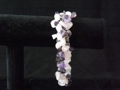 Rose Quartz and Amethyst chip Bracelet by Naturezjewels on Etsy, Rose Quartz, Amethyst, Chips, My Etsy Shop, Bracelets, Jewelry, Pink Quartz, Bangles, Jewlery