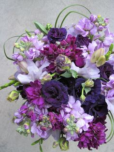 Beautiful for a Spring or Summer wedding! This bouquet was fragrant and smelled amazing! Purple Flower Arrangements, Floral Bouquets, Purple Flowers, Floral Wreath, Bridesmaid Bouquets, Local Florist, Bridal Flowers, Summer Wedding, Cupcakes