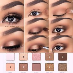 Eye Make-up - Halo-Augen-Makeup-Tutorial mit Kapuze Augen ♡ Too Faced X NikkieTutorials Palet - Best Photo Eye Makeup Steps, Simple Eye Makeup, Neutral Eye Makeup, Easy Makeup Looks, Eyeshadow Step By Step, Casual Eye Makeup, Daytime Eye Makeup, Simple Bridal Makeup, Make Up Tutorial