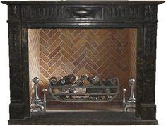 Englischer Kamin aus schwarzem Marmor   English Chimney Black Marble, SHI-Serie