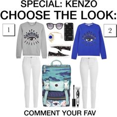 Choose the look #18 by grapefashion on Polyvore featuring polyvore, moda, style, Kenzo, Delfina Delettrez and Eyeko