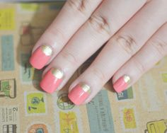 Step by step Half Moon Manicure