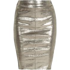 FAITH CONNEXION Stretch Leather Reptile Skirt ($1,193) ❤ liked on Polyvore