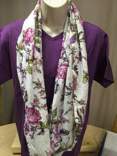 infinity scarf unique handmade floral by NanasSweeties51 on Etsy