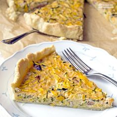 Zucchini-Quiche (vegetarisch) - Madame Cuisine - Famous Last Words Zucchini Tarte, Zucchini Frittata, Chicken Parmesan Recipes, Broccoli Recipes, Healthy Dessert Recipes, Vegetarian Recipes, Keto Zoodles Recipe, Cookbook Recipes, Cooking Recipes