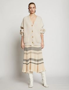 Proenza Schouler Shoes, Wooly Bully, Ribbed Cardigan, Skirt Fashion, Rib Knit, Fitness Models, Ready To Wear, Tunic Tops, Shirt Dress