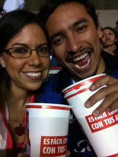 Apoyando a su equipo en el estadio!! #TheStoryOfUS