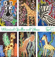 Whimsical-Giraffes-and-Zebras-Art-Lesson