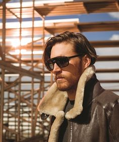 Men's Fashion is Getting in Gear for Fall. Denver Life Magazine featured Overland's Men's Brody Sheepskin Bomber Jacket.