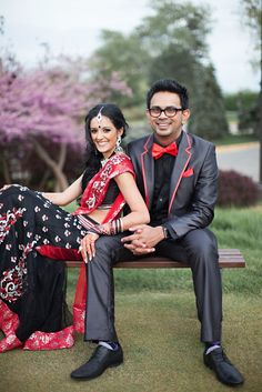 East meets west! cultural real wedding Indian weddings Chicago IL bride groom portrait