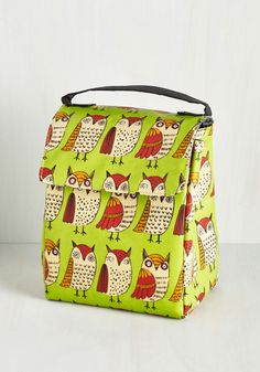 Owl Have What She's Having Lunch Bag. Satisfy your cravings for the cute and the quirky with this insulated lunch bag! #multi #modcloth