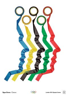 Graduate Olympic poster - different object to represent Olympic rings