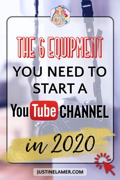 Ready to start a YouTube Channel and wonder what do you need to do so? I talk about the 6 equipment you need to start a YouTube Channel in 2020. #YoutubeChannel2020 #YouTube #YouTubeEquipment How To Start Youtube, Start Youtube Channel, You Youtube, How To Start A Blog, Youtube Hacks, Marketing Program, Marketing Software, Marketing Tools, Affiliate Marketing