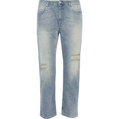 Acne Studios Pop Trash cropped distressed boyfriend jeans ($105) ❤ liked on Polyvore