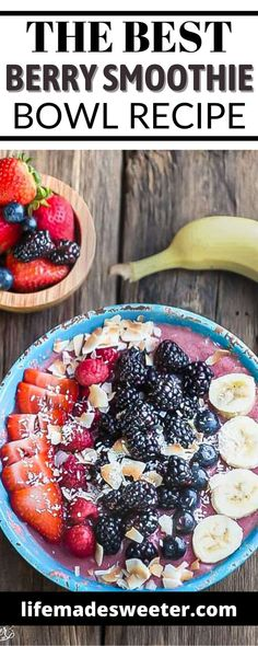 This Berry Smoothie Bowl is delicious and the best way to start the day. Smoothie bowls also make healthy snacks and lunch ideas too. Good Healthy Recipes, Keto Recipes, Healthy Snacks, One Pot Dinners, Breakfast Snacks, Smoothie Bowl, Berries, Good Food, Brunch