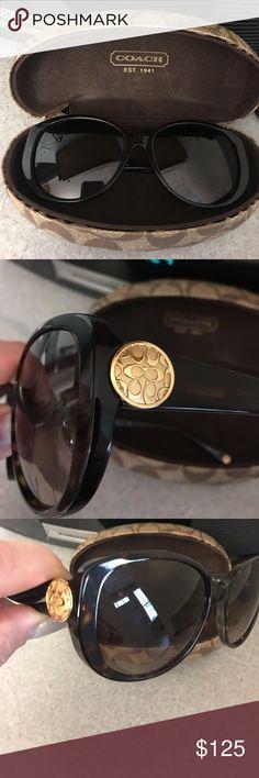Genuine Coach Sunglasses Genuine, Authentic Coach sunglasses, Dark Tortoise Coach Accessories Sunglasses