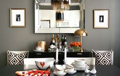 Great idea for a cozy and fabulous den or dining room!