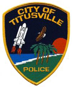 City of Titusville, FL Police patch. #eagle #space #shuttle #police #patch
