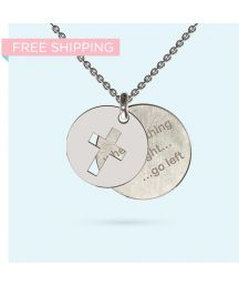 Engrave a personalised and meaningful message on this unique pendant made from precious metals. The message is yours, partially obscured by a beautifully designed pendant, making it an ideal conversation piece - It's your secret message, Dog Tag Necklace, Washer Necklace, Wheel Of Life, Pendant Design, Gift Vouchers, Hamsa, Precious Metals, Initials, Pendants