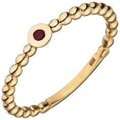 SIGO Ladies Ring Ball 333 Gold Yellow Gold 1 Ruby Red Ball Ring Ruby Ring Order now at: mode. Womens Jewelry Rings, Fine Jewelry, Women Jewelry, Yellow Jewelry, Ruby Red, Jewelry Watches, Lady, Bracelets, Medium