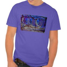 abstract two mens tee shirt