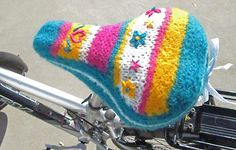 Knitting Pattern Name: Sweet Ride Bike Seat Cover Pattern by: Merry Capers
