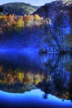 Autumn in deep blue...