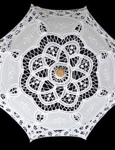 """Casamento / Mascarilha Renda Guarda-chuva Branco 19.7""""(Aprox.50cm)"""