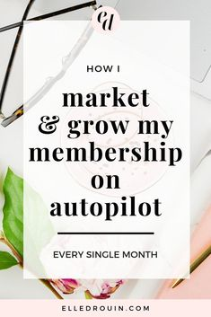Business marketing ideas - How I Market And Grow My Membership On Autopilot Every Month - marketing tips and strategies for entrepreneurs who want to create and grow an online membership community for recurring revenue. Content Marketing Strategy, Small Business Marketing, Business Tips, Social Media Marketing, Online Business, Creative Business, My Market, Importance Of Time Management, Marketing Quotes