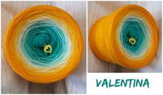 Bobbel *Valentina* Material: Hochbauschacryl 5 Farben: (rein) oceangrün eisblau natur dottergelb goldgelb