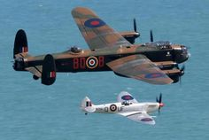 The iconic Lancaster & Spitfire together