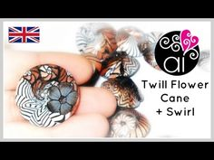 Twill Flower Cane + Swirl | Polymer Clay Tutorial | English version - YouTube.   There are two videos