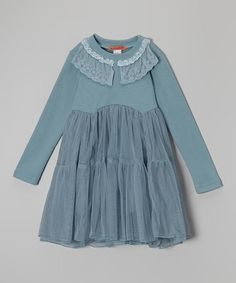Take a look at this Seafoam Green Lace Dress - Toddler & Girls on zulily today!