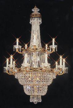 Antique gold chandelier for foyer / entrywayCW-4800-36/36