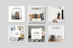 Layout Instagram Pack by Leaflove on @creativemarket