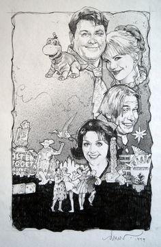 The Flintstones in Viva Rock Vegas by Drew Struzan Vintage Pop Art, Game Of Thrones Art, Movie Poster Art, Cultura Pop, Art Images, Art Inspo, Art Reference, Comic Art, Illustrators