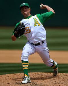 Scott Kazmir #26 Best Uniforms, Sports Uniforms, Scott Kazmir, Oakland Athletics, Major League, Athlete, Clock, Baseball Cards, Photos