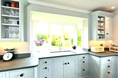 kitchen sink in bay window - Google Search