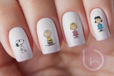 30pc Charlie Brown and The Peanut Gang Manicure Nail Decals by VitaBelloVogue on Etsy https://www.etsy.com/listing/209382447/30pc-charlie-brown-and-the-peanut-gang