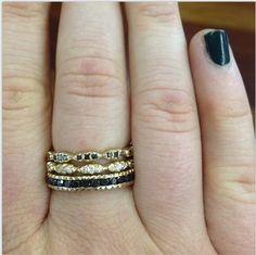 More stacks to love! #blackdiamonds #lovegold