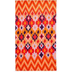 Tracy Reese Diamond Woodblock Apricot Oversized Beach Towel